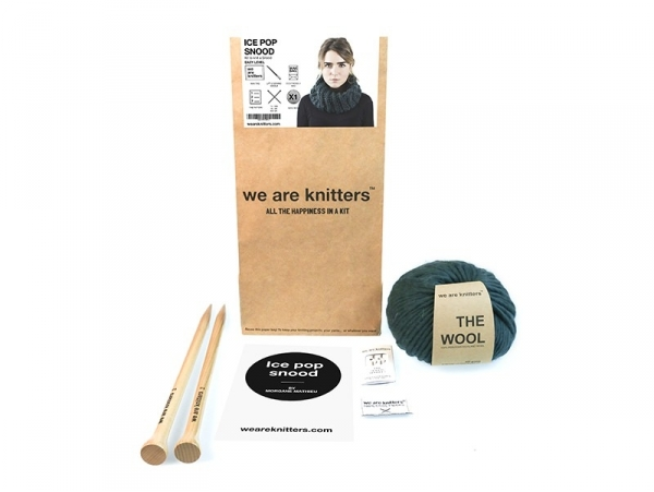 Kit tricot débutant - Ice Pop Snood We are knitters - 1
