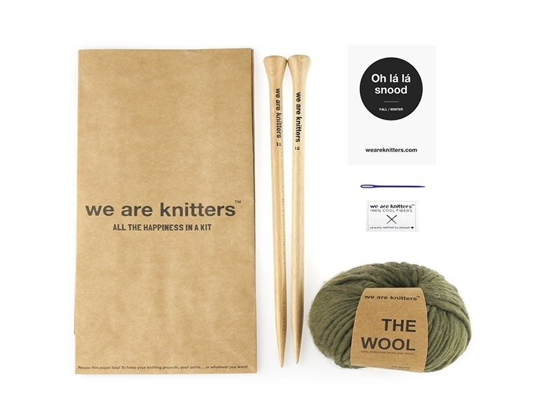 Kit tricot intermédiaire - Oh là là snood We are knitters - 1