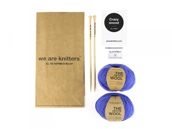 Kit tricot intermédiaire - Crazy Snood We are knitters - 1