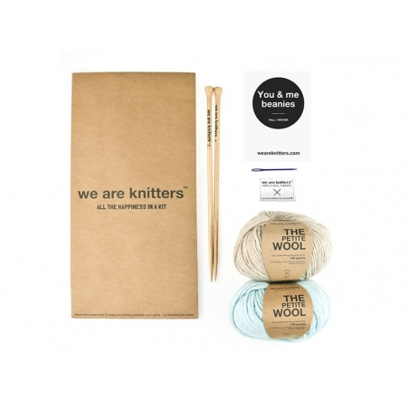 Kit tricot facile - You & me beanies We are knitters - 1
