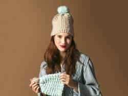 Knitting kit - You & me beanies (easy)