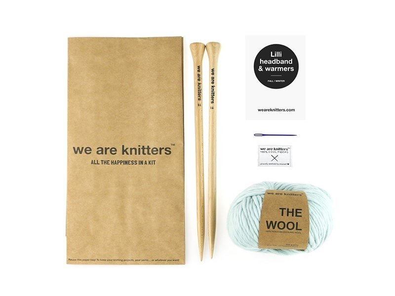 Kit tricot intermédiaire - Lili headband and warmers We are knitters - 1