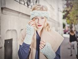 Kit tricot intermédiaire - Lili headband and warmers