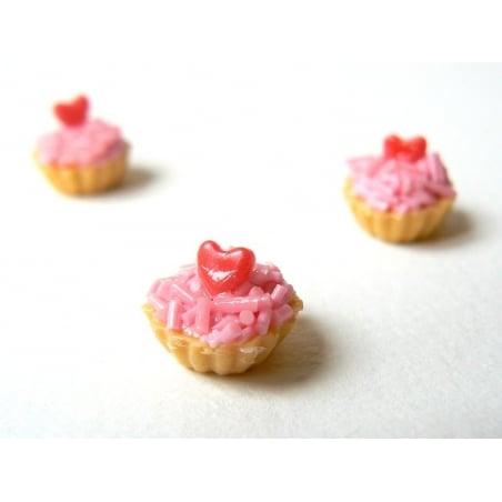 1 tarte / cupcake miniature coeur  - 1