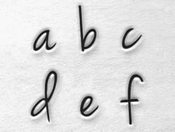 Prägestempel - Kleinbuchstaben (Melody)