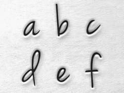Tampons à frapper - lettres minuscules Melody