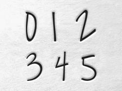 Prägestempel - Zahlen (Melody)