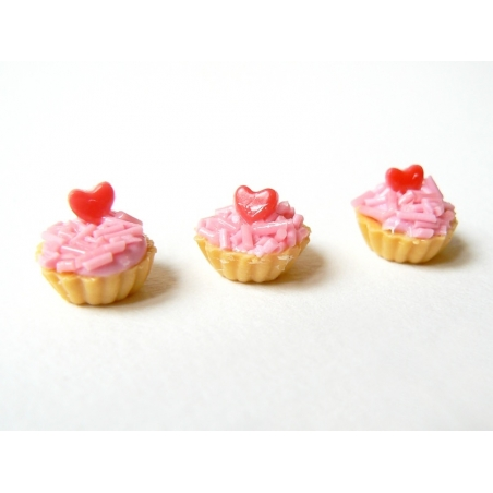1 tarte / cupcake miniature coeur  - 2