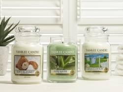 Bougie Yankee Candle - Clean Cotton / Coton frais - Moyenne jarre