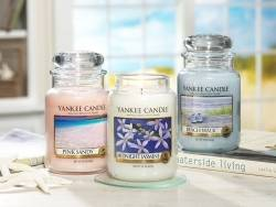 Bougie Yankee Candle - Pink Sands / Sables roses - Moyenne jarre