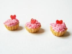 1 tarte / cupcake miniature coeur  - 3