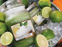 Bougie Yankee Candle - Vanilla Lime / Vanille et citron vert - Moyenne jarre
