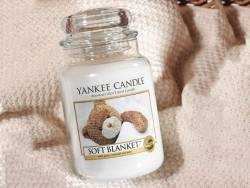 Bougie Yankee Candle - Soft Blanket / Couverture douce - Petite jarre