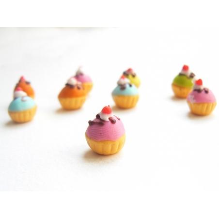 1 cupcake miniature coloré - rose  - 2