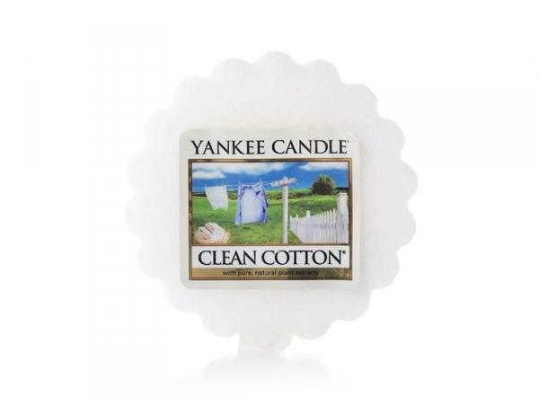Bougie Yankee Candle - Clean Cotton / Coton frais - Tartelette de cire