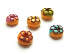 5 donuts miniatures couleurs assorties