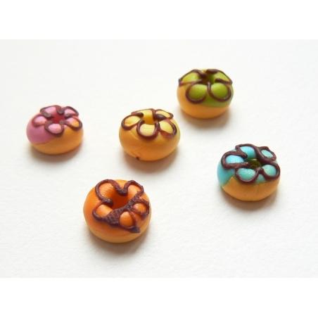 5 donuts miniatures couleurs assorties  - 2