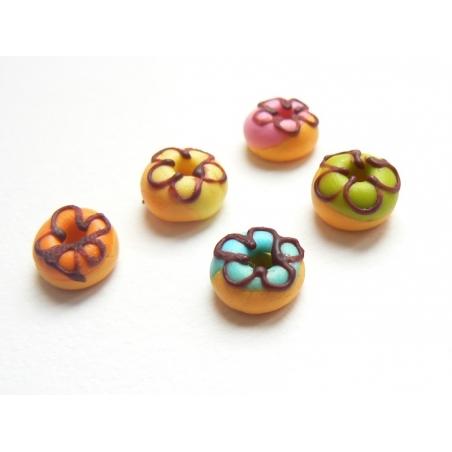 5 donuts miniatures couleurs assorties  - 3