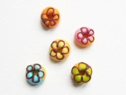 5 donuts miniatures couleurs assorties  - 4
