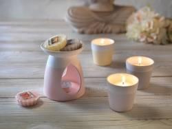 Pastel-coloured wax warmer - pink
