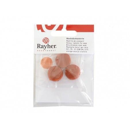 Pastille de colorant pour cire à bougie - orange