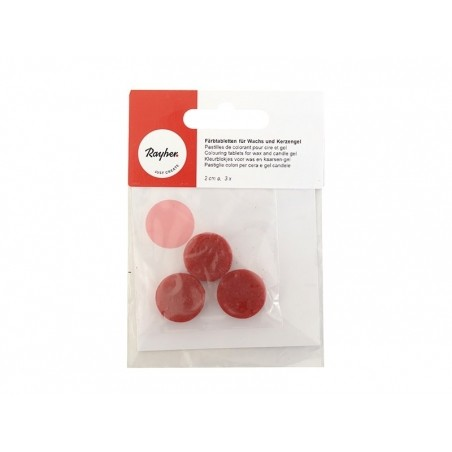 Pastille de colorant pour cire à bougie - rose Rayher - 1