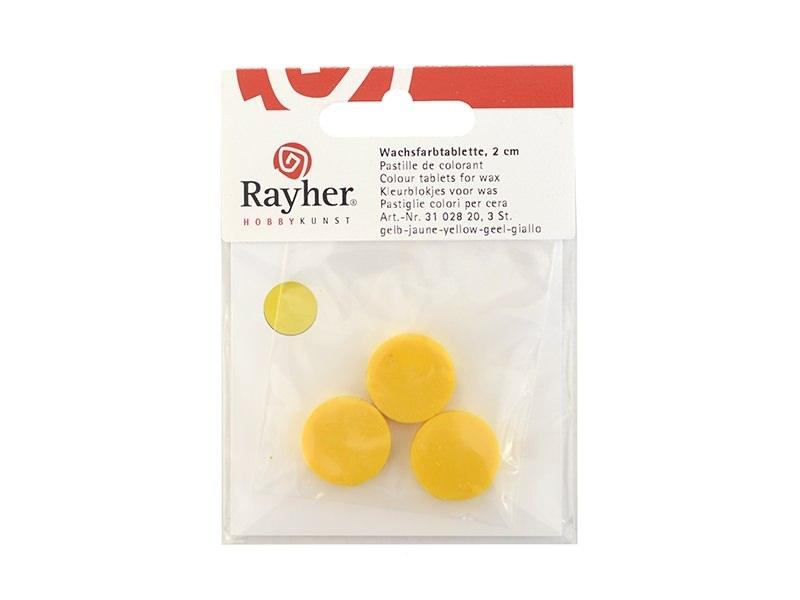 Pastille de colorant pour cire à bougie - jaune Rayher - 1