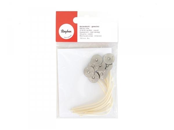 Acheter Mèches cirées pour bougies 100 mm - 1,75€ en ligne sur La Petite Epicerie - 100% Loisirs créatifs