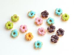 1 donut fleur miniature - chocolat