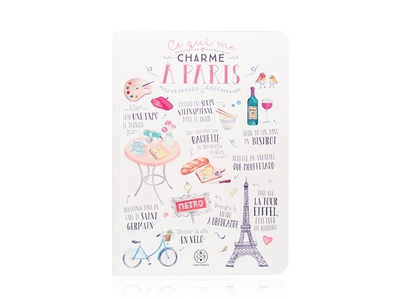Acheter Carnet Lovely streets - ce qui me charme à Paris - 12,49€ en ligne sur La Petite Epicerie - 100% Loisirs créatifs
