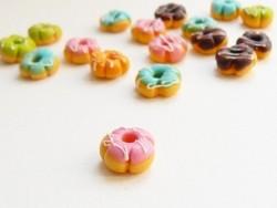 1 donut fleur miniature - rose  - 1