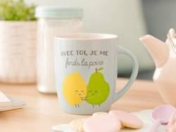 """mug """"Avec toi, je me fends la poire"""""""