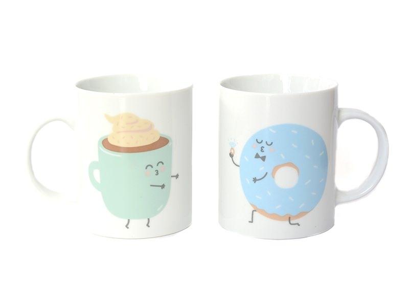 """Pack de 2 mugs """"Ils furent heureux et ils prirent ensemble tous leurs petits déjeuners"""""""