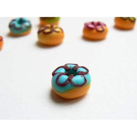 1 round miniature doughnut - blue