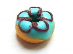 1 donut rond miniature - bleu
