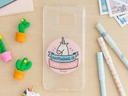 """Samsung S7 mobile phone case - """"Nothing is impossible"""""""