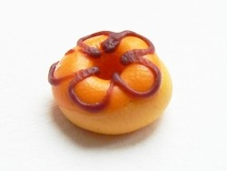 1 round miniature doughnut - orange