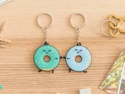 Duo porte-clés - donut