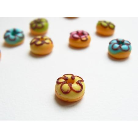 1 donut rond miniature - jaune