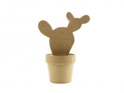 Cactus Western - papier mâché à customiser