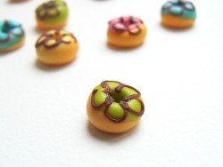1 donut rond miniature - vert
