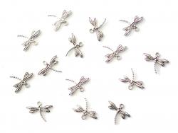1 breloque libellule - argentée