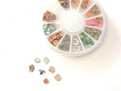 Box with 120 cute animal slices