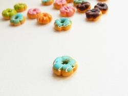 1 donut fleur miniature - bleu
