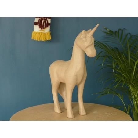 Medium-sized unicorn - papier mâché, customisable