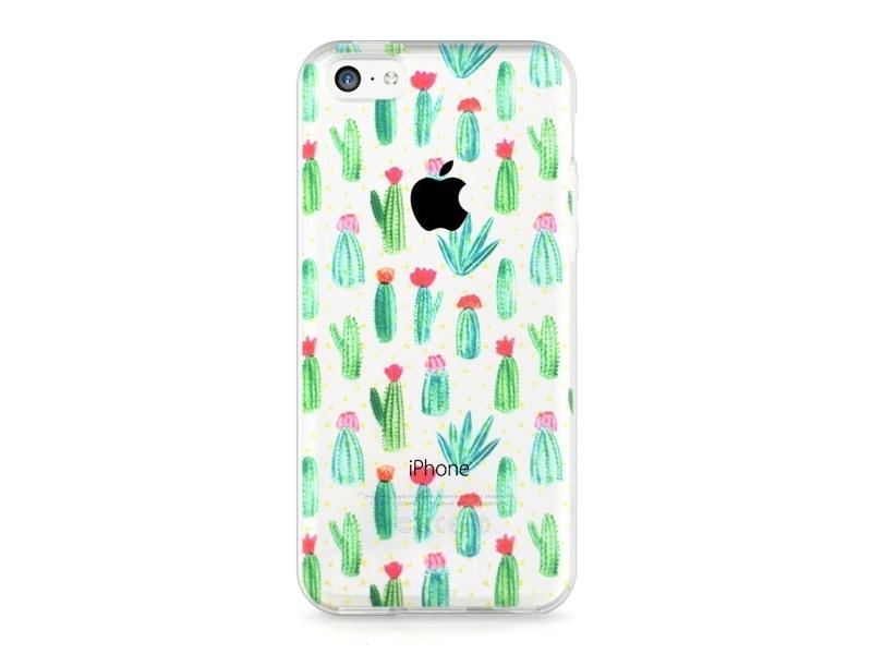 iPhone 5C mobile phone case - Blooming cactus