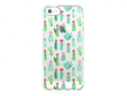iPhone 5/5S/5SE mobile phone case - Blooming cactus
