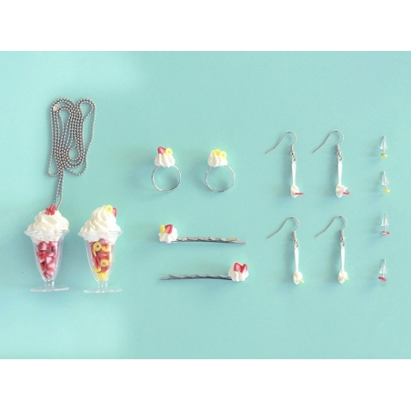kit DIY mes bijoux gourmands - coupe glacée