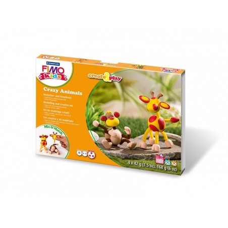 Form and play kit - Crazy animals - Monkey and giraffe