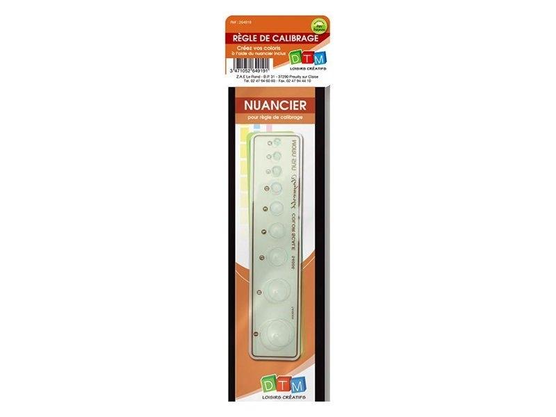 Règle de calibrage avec son nuancier Fimo - 1